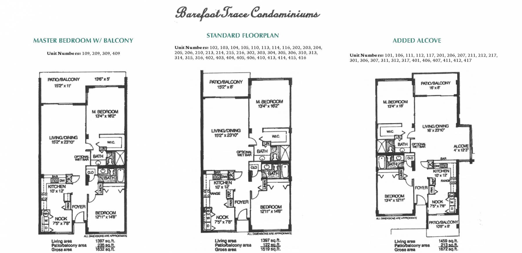 Barefoot Trace Floor Plans
